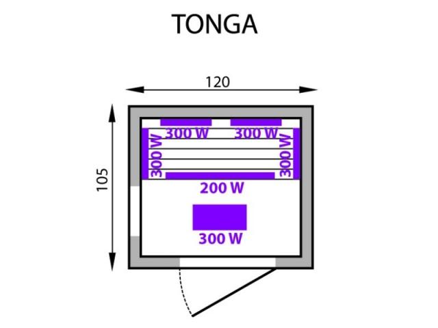 Инфракрасная сауна Tonga Mountfield