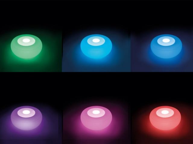 Плавающий светодиодный светильник на пуфике AZURO