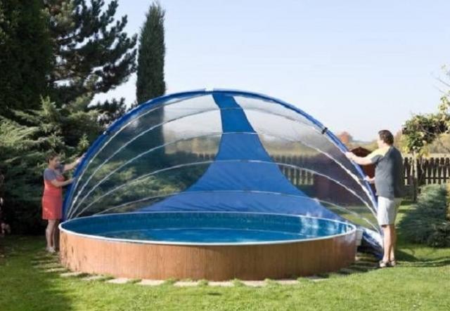Мобильный павильон Azuro круглый диаметр 4,9 м, высота 2,6 м (3PBZ0102)