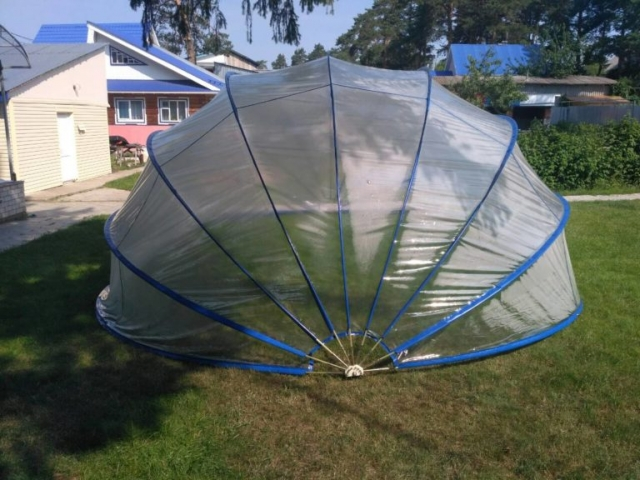 Летотент круг 600 ПВХ усиленный каркас 9 дуг