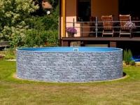 Каркасный бассейн Azuro Stone Mountfield (5.5мх3.7мх1.2м)