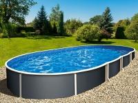 Каркасный бассейн Azuro Graphite Mountfield (5.5мх3.7мх1.2м)