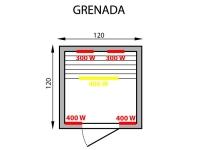 Инфракрасная сауна Grenada 2 Mountfield