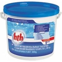 Многофункциональные таблетки 5 в 1, медленный хлор  200 гр. 5кг HTH (Франция)